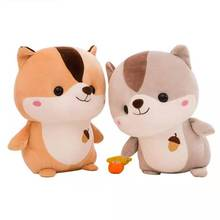 New 28/38/48 Cm Cute Squirrel Plush Toy Stuffed Soft Animal  Pillow Christmas Gift for Kids Kawaii  Baby Accompany Sleep Toy rainbow teddy bear kawaii cute molang potato plush toy kids toy baby toy soft pillow plush wedding decoration anime kids gift