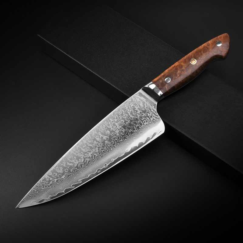 8inch Chef Knife VG10 Damascucs Steel 67 Layers Kitchen Knives Vegetable Butcher Knife Ultra Sharp Blade Camphor-wood Handle