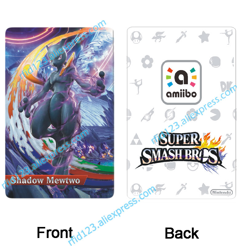 Pokemon Amiibo Card Shadow Mewtwo For NS Games
