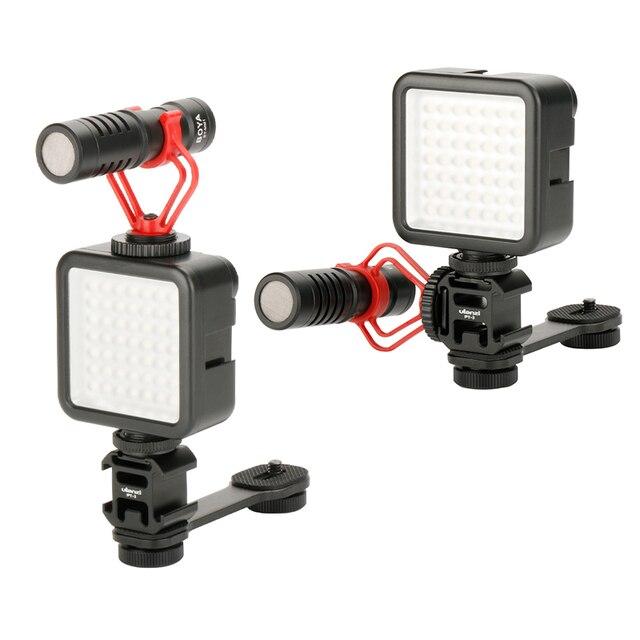 写真撮影の補助光マイクエクステンションバースマートフォン用一眼レフカメラzhiyun dji osmo 4/ポケットジンバルトリプルホット靴マウント