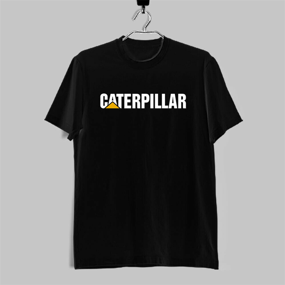 New Caterpillar Logo Men'S Black T-Shirt Size S-2Xl More Size And Colors Tee Shirt