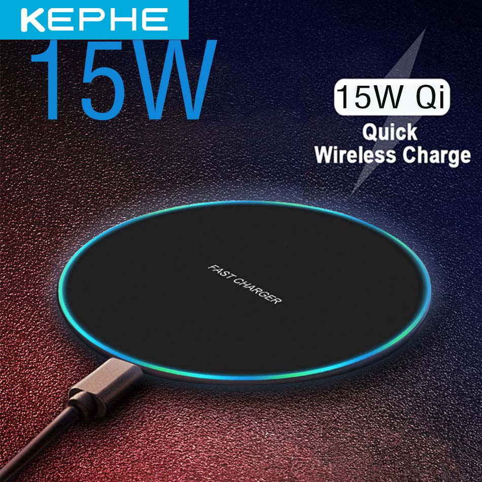 KEPHE 15W qi Wireless Charger for iPhone X XR XS Max 8 fast wirless Charging for Samsung Xiaomi Huawei phone Qi charger wireless(China)