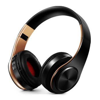 HIFI stereo earphones bluetooth headphone music headset FM and support SD card with mic for mobile xiaomi iphone sumsamg tablet 1