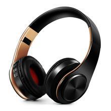 Auriculares estéreo HIFI con bluetooth, auriculares con FM, soporte de tarjeta SD y micrófono para teléfonos xiaomi, iphone, Samsung, tablet y PC