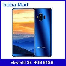 Vkworld S8 5.99 cala 4G-LTE 4GB 64GB ROM MTK6750T octa-core Android 7.0 13MP 16MP 5500mAh OTA odcisk palca Smartphone
