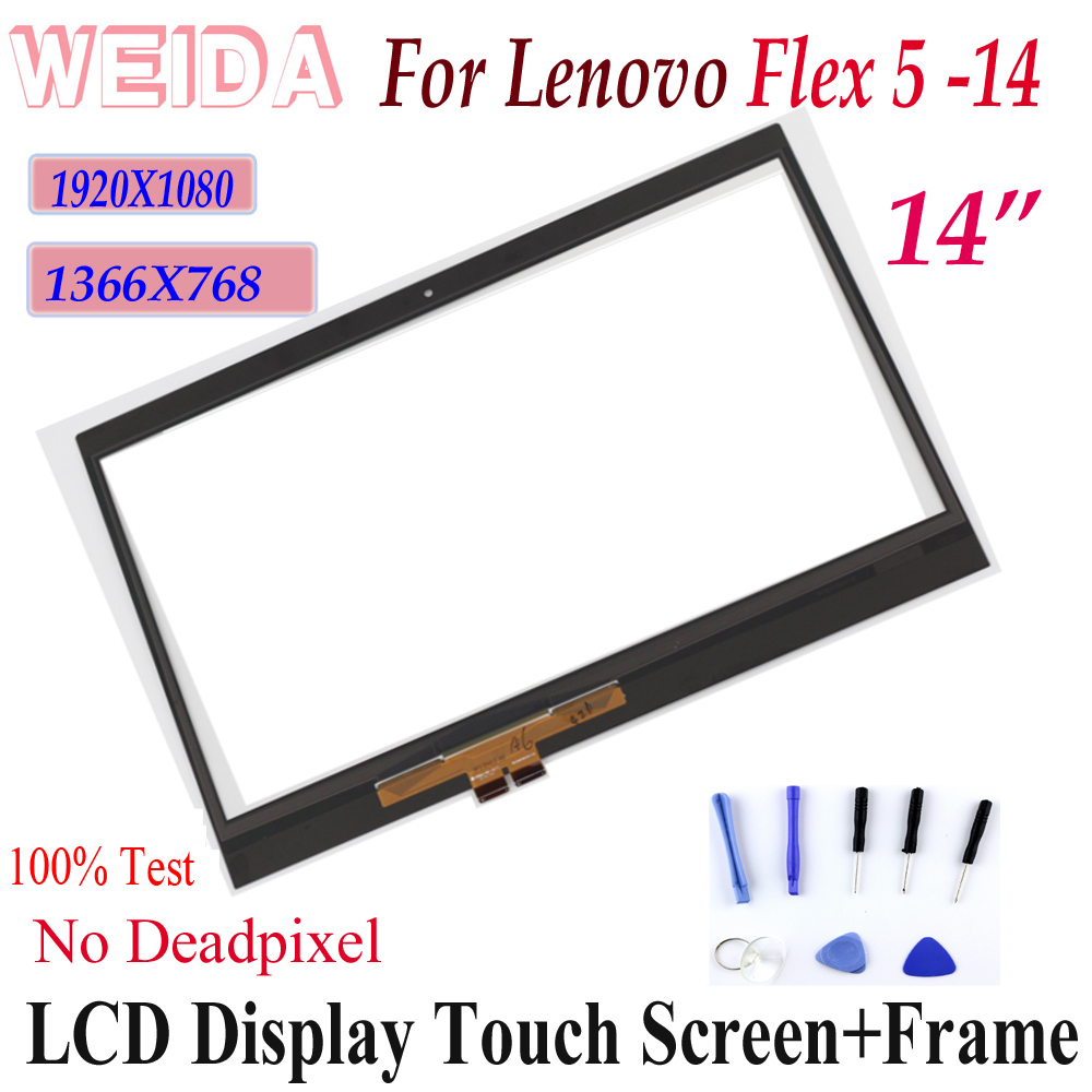 """WEIDA LCD For lenovo Flex 5 14 14"""" Touch Screen Digitizer Panel for lenovo Yoga 520 14 flex 5 14 touch screen Replacment