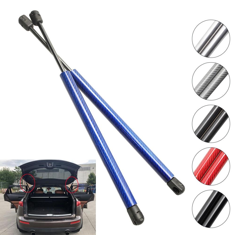 Fibra de carbono 2 uds Auto puerta trasera maletero liftgate barras de Gas puntal de elevación soporte para Infiniti FX35 FX45 (S50) 2003-2008 20,72 pulgadas