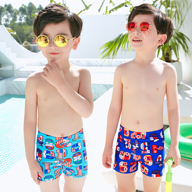 CHILDREN'S Swimming Trunks BOY'S Big Boy KID'S Swimwear Swimwear Baby Students Teenager Swimming Suit