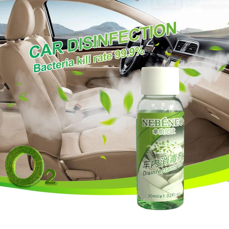 30ml Automobile Disinfectant Deodorization Formaldehyde Removal Air Purification Atomizing Liquid Auto Car Accessories TSLM1