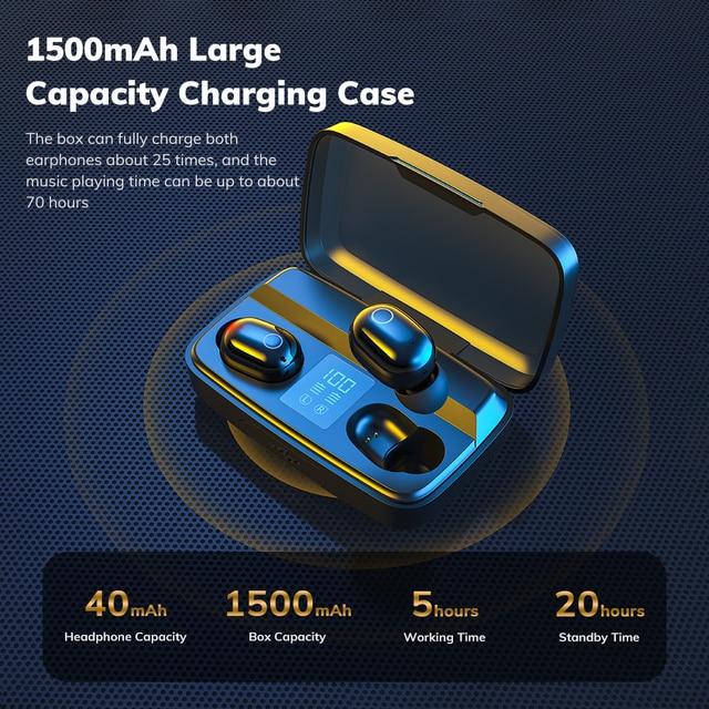 TWS Fingerprint Touch Bluetooth earphone