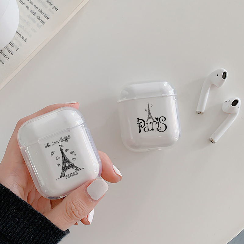 Soft Cute Air Pods Case For Apple airpods Case Luxury Romantic Paris Eiffel Tower Airpods Case In Bluetooth Earphone Accessories in Earphone Accessories from Consumer Electronics