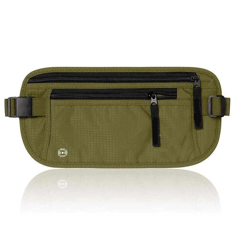 Vente directe nouveau Style en plein air étanche Sports de course fermer Fit taille sac RFID Anti vol portefeuille passeport sac paquet de documents