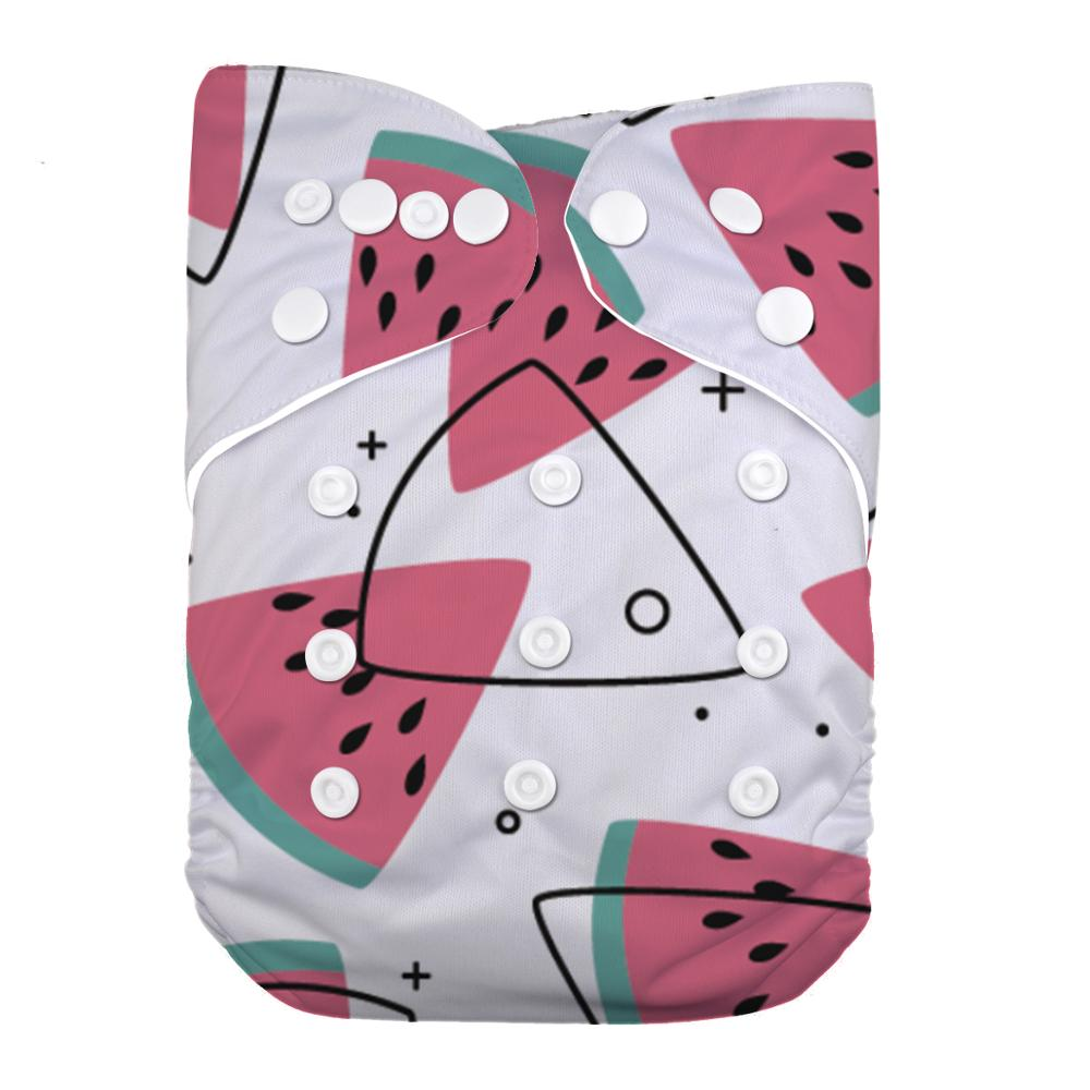 LilBit Baby New Printed Design Reusable Washable Cloth Diaper Nappy