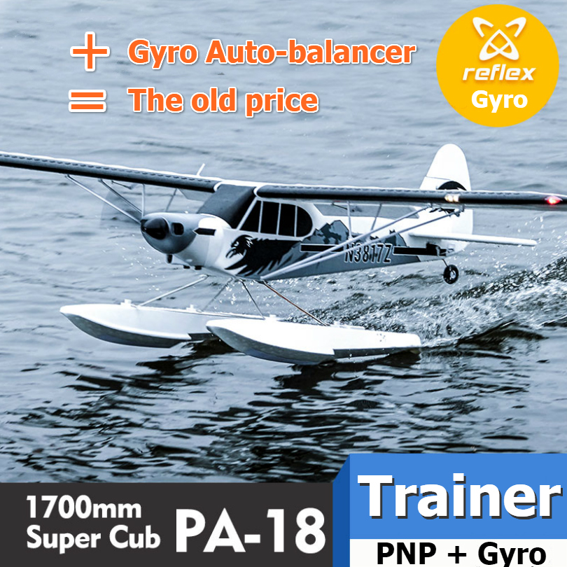 FMS RC Airplane Plane 1700MM 1.7M PA-18 J3 Piper Super Cub 4S 5CH with Gyro Auto Balance PNP Trainer Beginner Model Aircraft