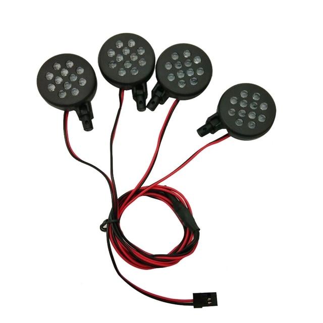 4 LED Lights Receiver Kit Plastic Shell Lotus Headlights for 1/5 HPI BAJA Rovan King Motor 5B RC Car Parts Accessories
