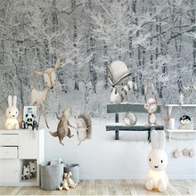 Large Wallpaper Mural World-Background-Wall Painti Decoration Customized Children's Winter