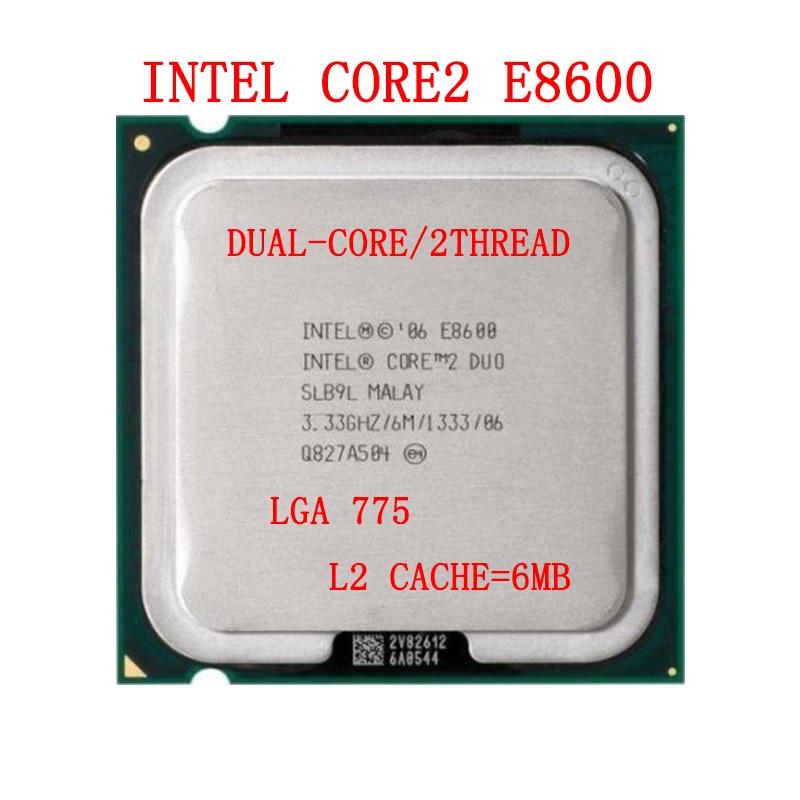 Intel Core 2 Duo E8600 Processor 3.33Ghz 6M 1333MHz Socket 775 CPU