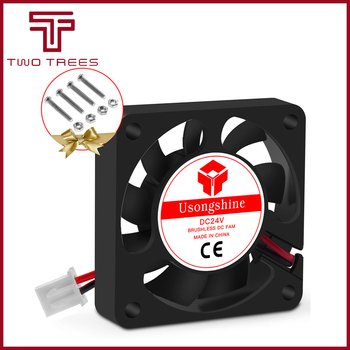 5010 Cooling Fan 12V 50mm Cool 3D Printers Parts 2 Pin Brushless 5CM DC Fans Cooler Radiator Part 50*50*10mm Quiet Accessory image