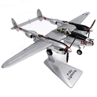 1/48 Scale Alloy Fighter P 38 US Air Force Aircraft P38 Lightning Model Toys Children Kids Gift for Collection