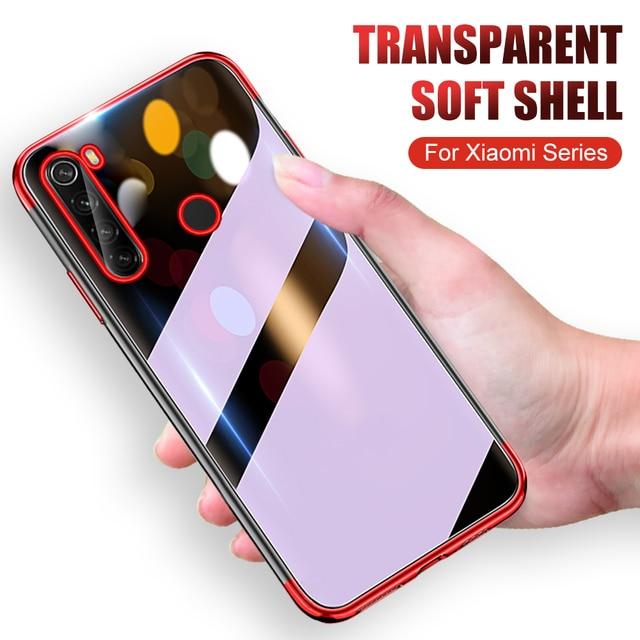 6D Ultra-thin transparent case for Xiaomi Redmi Note 8 8T 7 8A Redmi8 a Note8 t note8t note8pro soft phone cover funda on redmi7