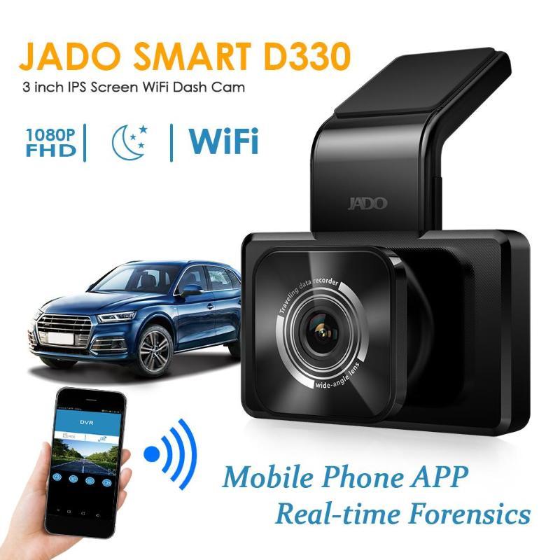 JADO Car DVR Camera Dash-Cam D330-GD Full-Hd Video-Recorder G-Sensor Dual-Lens Wifi Night-Vision