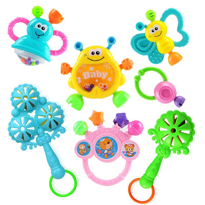 Rattle Newborns 0-1-Year-Old Baby Toys 3-6 Month Baby Girls Educational CHILDREN'S 2-to 4-Boy 5 To 8