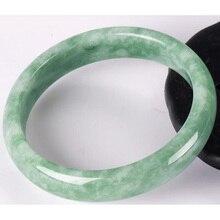 Сертификат оптом высококачественный натуральный браслет с нефритом класса чистый натуральный камень браслет Ювелирное Украшение из нефрита