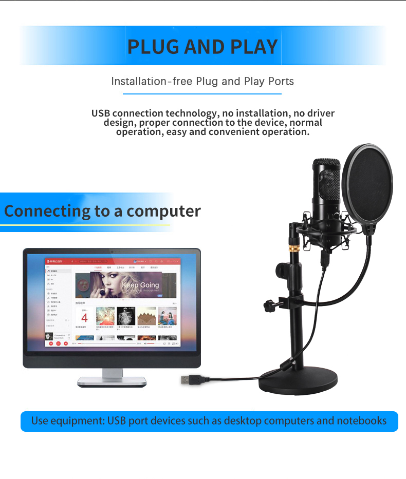 Felby USB Podcasting Condenser Microphone 13