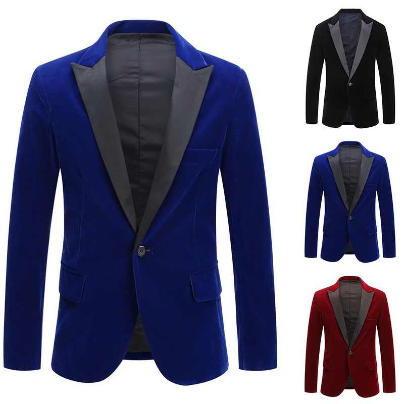Jodimitty 2020新メンズブレザージャケットヴィンテージベルベットスーツジャケット結婚式パーティースーツジャケット新郎衣装ステージterno masculino