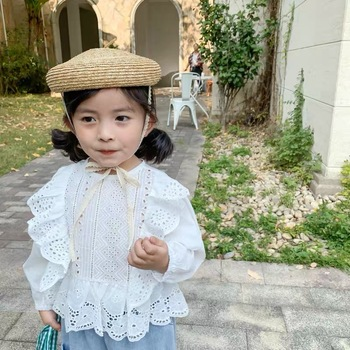 2020 New Children Summer Beret Hat For Girls Natural Straw Cute Beret Kids Kawaii Beret Gifts Suitable For 2-6 Years Old eaboutique 2018 new street fashion rock star kids summer big holes jeans for girls jeans 2 6 years old