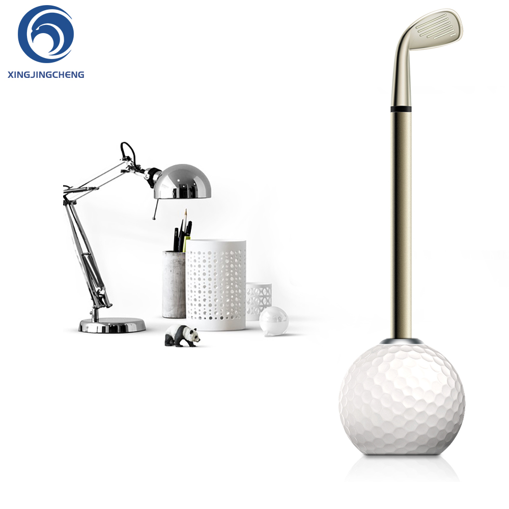 Novelty Golf Ball Pen Stand Holder With Black Ink Wedge Club Pen For Desk Decoration Festival Birthday Golf Gifts For Souvenir