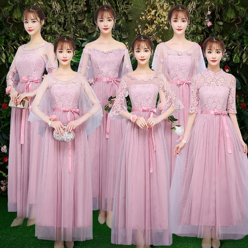 Burgundy Bridesmaid Junior Dresses Princess Prom Pink Wedding Party Women Plus Size New Years Eve Dress Tulle Sexy Vestido