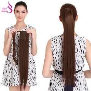Натуральные волосы Remy для наращивания, 120 г, прямые волосы с хвостиком, бразильская лента, конский хвостик, клипсы для наращивания, машинка д...