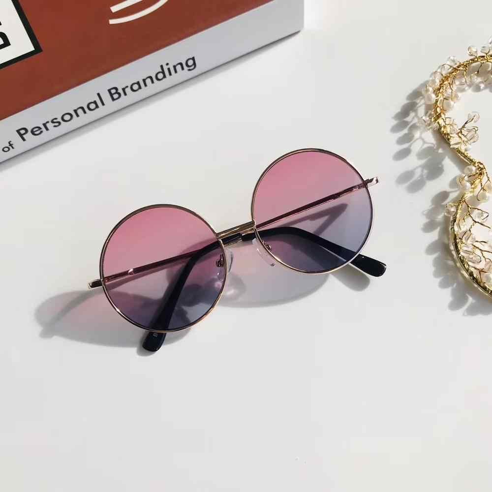 1 قطعة لون الحلوى خمر بسيط الأطفال الجولة بنات مكافحة الأشعة فوق البنفسجية النظارات الشمسية الساخن بنين بنات أطفال ريترو لطيف نظارات شمسية نظارات UV400