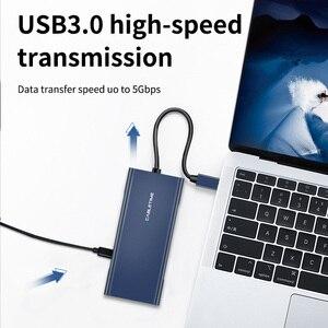 Image 5 - Cabletime hub usb para hdmi tipo c pd carregamento usb 3.0 sd/tf leitor de cartão adaptador vga aux3.5mm azul escuro para huawei matebook x c257