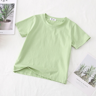 VIDMID children t-shirt Baby boys girls Cotton short sleeves tops tees clothes T-shirt kids summer solid color clothing  4006 04 2