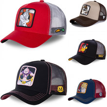 Neue Marke Anime Dragon Ball BUNNY Hysterese Kappe Baumwolle Baseball Kappe Männer Frauen Hip Hop Papa Mesh Hut Trucker Dropshipping(China)