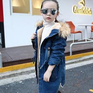 Image 3 - เสื้อสำหรับสาวDenimแจ็คเก็ตสาวยาวเด็กเสื้อขนสัตว์ฤดูใบไม้ร่วงวัยรุ่นเด็กชุดสำหรับหญิง