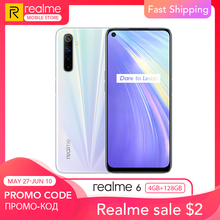 realme 6 Global Version 4GB RAM 128GB ROM 30W Flash Charge 4300mAh Battery Helio G90T Processor 64MP Quad Ultra Wide Camera NFC
