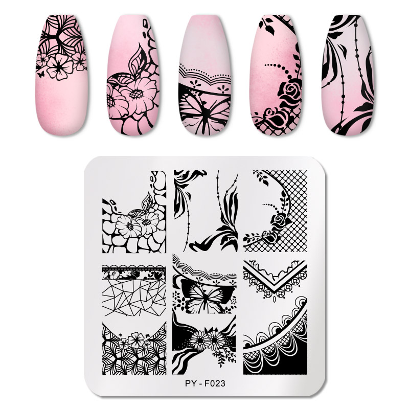 PICT YOU 12*6cm Nail Art Templates Stamping Plate Design Flower Animal Glass Temperature Lace Stamp Templates Plates Image 15