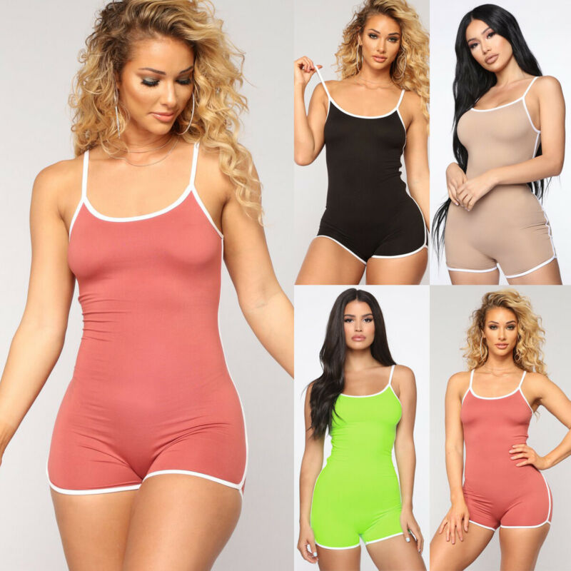 Women Rompers Sexy Summer Body Jumpsuit Shorts Playsuit Bodycon Bodysuit Sleeveless Short Overalls