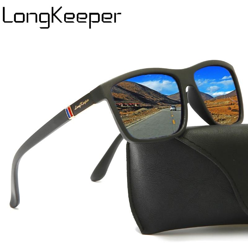 Brand Designer TR90 Polarized Sunglasses Men Women Fashion Square Sport Sun Glasses Male