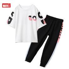 Спортивный костюм для девочек детские комплекты модная одежда
