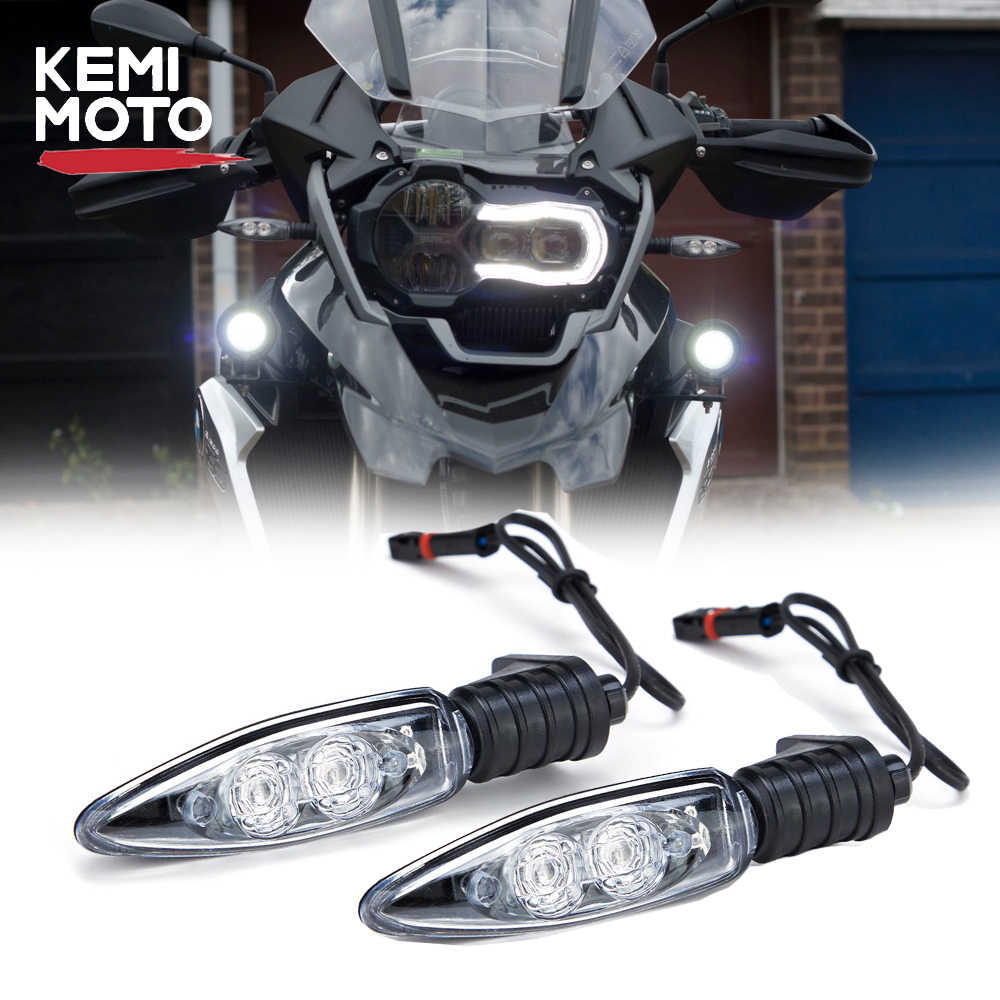 Two Pairs LED Turn Signal Indicator Lights Fit For BMW S1000RR R1200GS R1200R