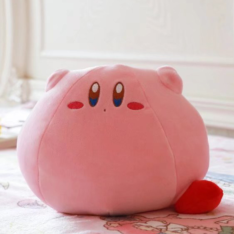 Cartoon New Game Kirby Adventure Kirby Plush Toy Soft Doll Large Stuffed Animal Toys For Children Birthday Gift Home Sofa Pillow image
