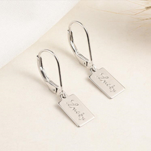 925 Sterling Silver Handcrafted Earrings Female lucky Letter Short Pendant Simple Classic Fashion Ladies Accessories