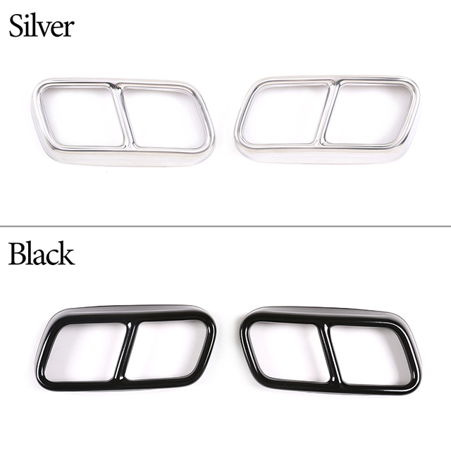 304 Stainless Steel Car Tail Muffler Exhaust Pipe Output Cover Trim For BMW 7 Series F01 2009-2014 Auto Exterior Accessories 2