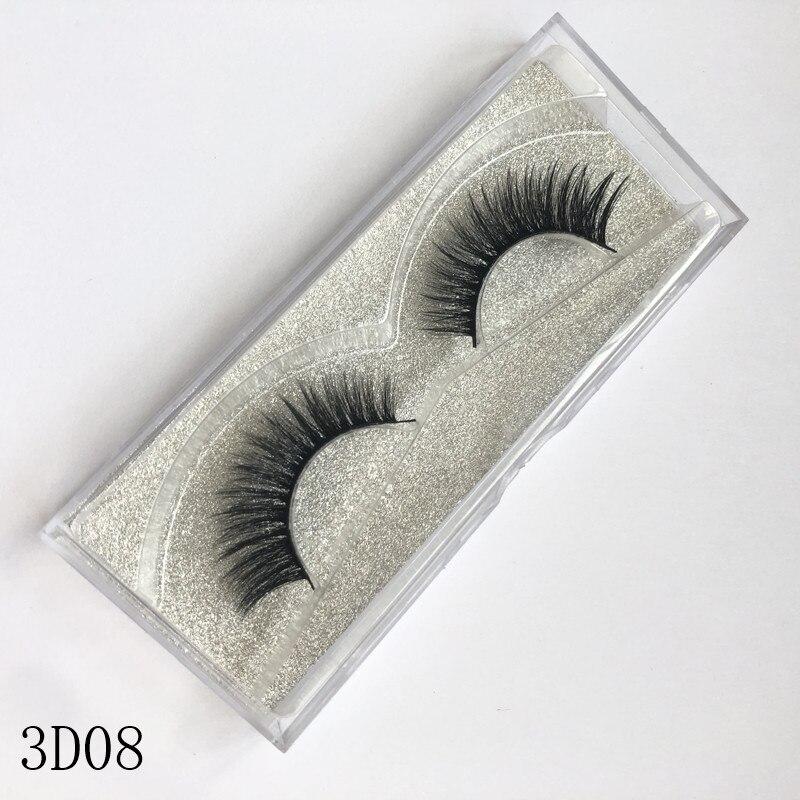Pestañas postizas 100% hecho a mano Natural larga tira completa pestañas maquillaje de ojos herramientas de estilismo