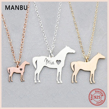 MANBU Hot Sale Personalized customization 925 sterling silver necklace for your pet photo fashion jewelry custom necklace gift manbu personalized custom superman necklace sterling silver chain necklace for women men jewelry anniversary gift free shipping