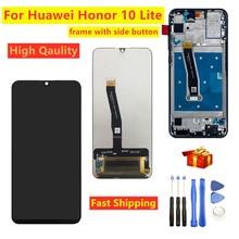 """6.21 """"สำหรับHuawei Honor 10 Lite HRY LX1 HRY LX2 HRY LX1TจอแสดงผลLCD + หน้าจอสัมผัสDigitizerประกอบกับกรอบสำหรับhonor 10"""